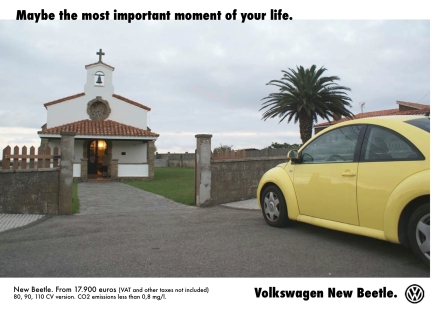 false ad by merge (volkswagen)